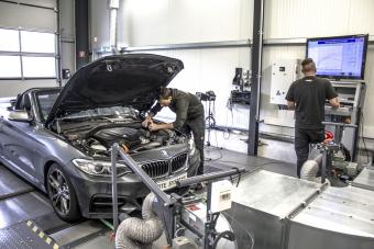 Performance improvements developed on a dynamometer