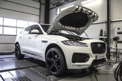 Der Jaguar F-Pace bei DTE