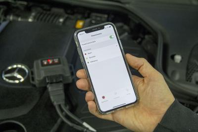 PedalBox mit Bluetooth-Verbindung