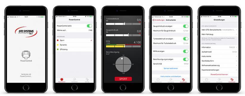 DTE-Tuning per Smartphone-App