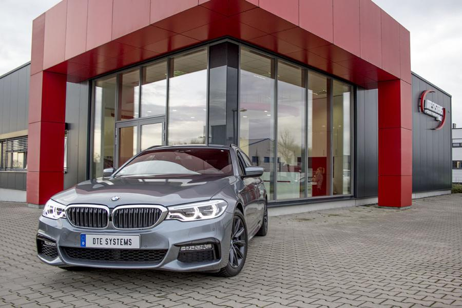 The BMW 540i with more power due to chip tuning by DTE