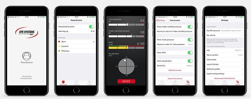 Chiptuning per Smartphone-Steuerung